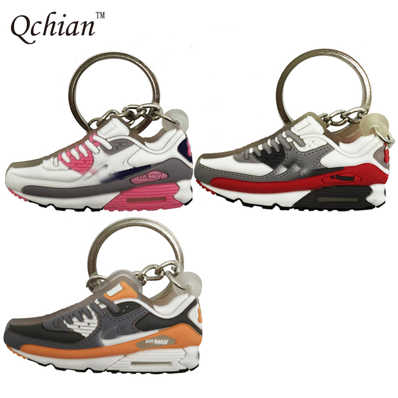 2017 Airer Max Keychain for Women Kids Sneaker Shoes Key Chains Holder Ring for Car Cute Mini Silicone
