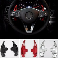 TTCR II Aluminium steering wheel DSG paddle shifters for Mercedes Benz C GLC GLE 2015 Paddle Gearbox Car Chromium Styling Covers