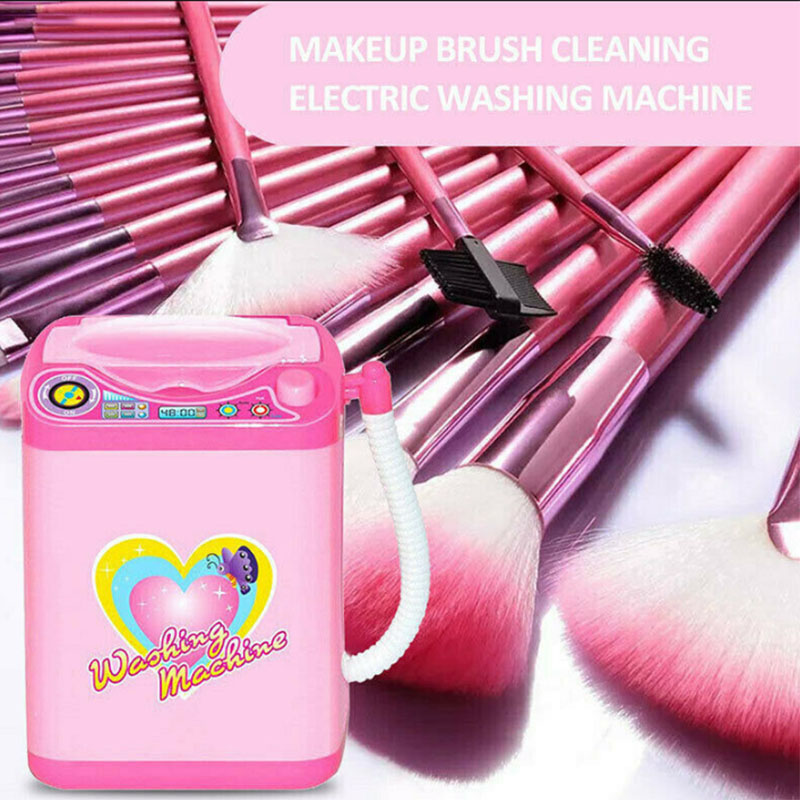 Hot Mini Electric Makeup Brush Cleaner Washing Machine Toy Wash Makeup Brushes Beauty Blender Cleaning Tool