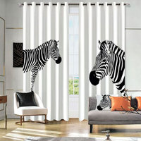 Window 3D Curtain Zebra Living Room Modern Home Goods Window Treatments Polyester Printed 3d Curtains For Bedroom