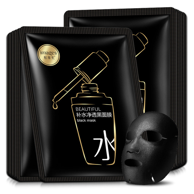 beauty moisturizing SHEET black FACE mask mascara facial acne black facial mask Acne Treatment Oil-control korean 1