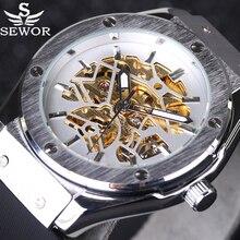 2016 Nouveau SEWOR Automatique Mécanique Hommes Montres Casual Bracelet En Caoutchouc De Luxe Mâle Montre de sport Relojes hombre militaire montre-Bracelet