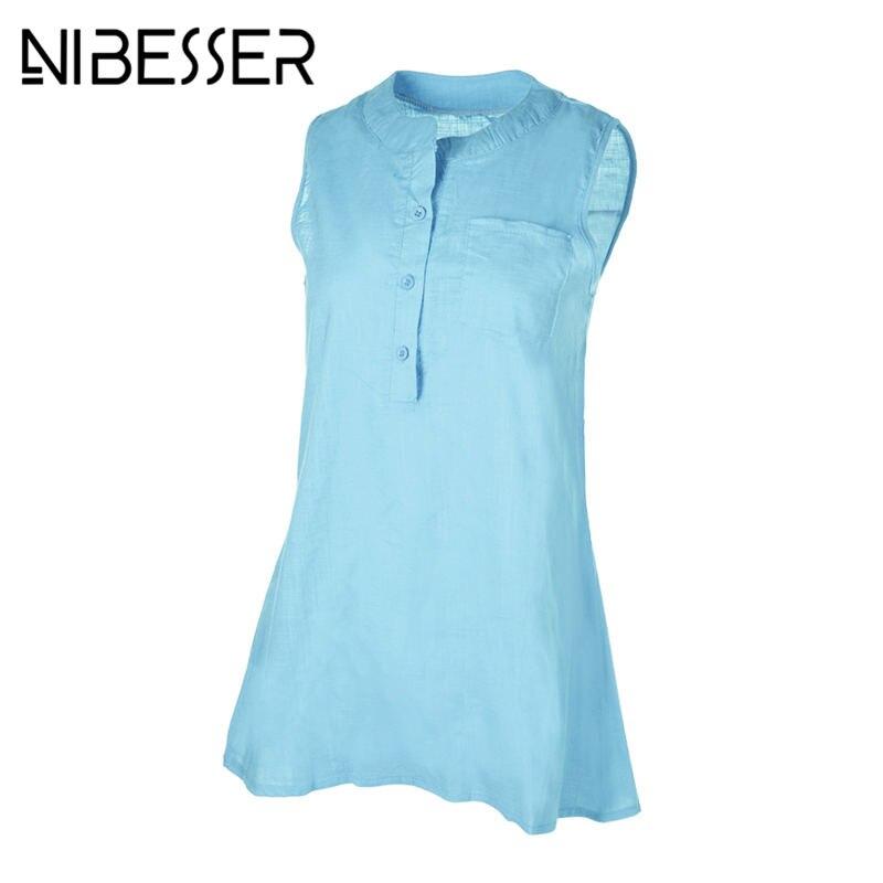 NIBESSER Women Sexy Sleeveless V-Neck Pockets Chiffon Blouse Shirt Plus Size Blouses Summer Mesh Patchwork Top Clothing 5XL 3XL