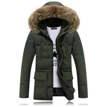 Long Hoooded Parka Men 2019 Warm Winter Jacket Men Fashion Brand Design Solid Manteau Homme Hiver Big Fur Outwear Army Green 4XL