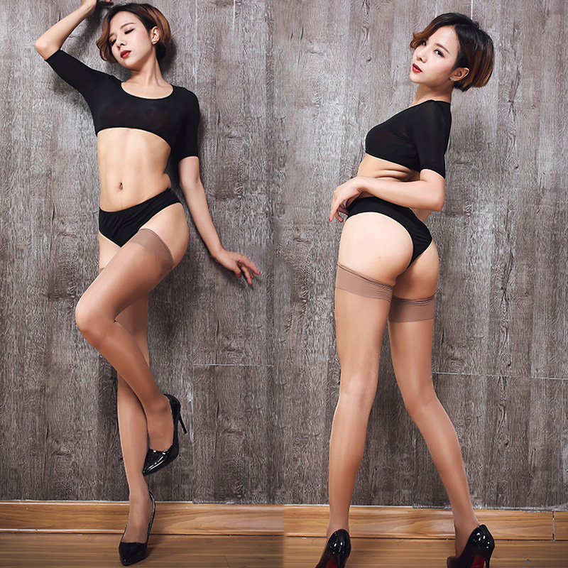 Сексуальное женское белье, яркие цвета, широкие ребра, манжеты, чулки для женщин, Прозрачный блестящий шелк 15D, для женщин, бедра, высокие мас...