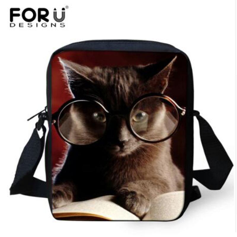 Small Animal Bag Casual Messenger Bag for Women Mini Printing Cat Dog Shoulder Bag Mini Lady Girls Crossbody Bag High Quality