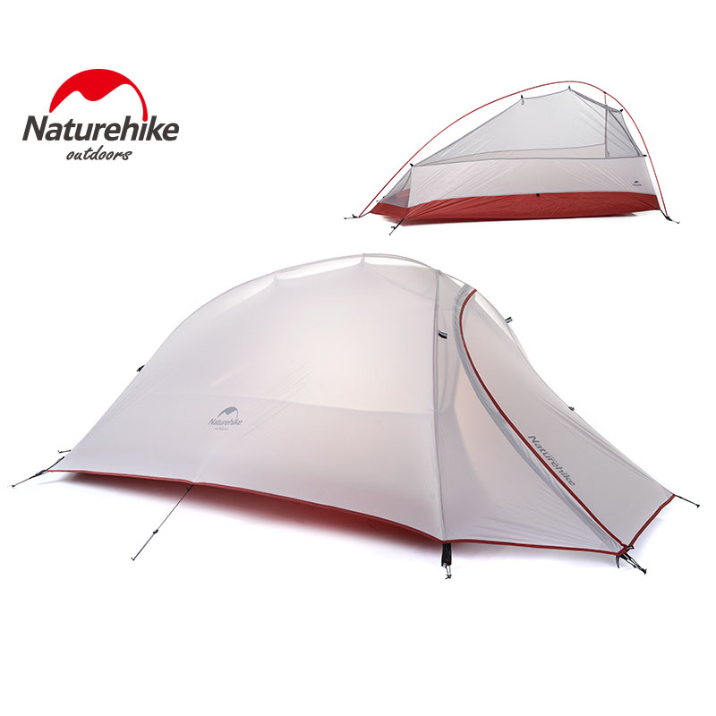 4 seasons Outdoor Portable Double-layer Camping Tent Camouflage for 1 Person Lightweight Waterproof PU8000mm -NatureHike 1