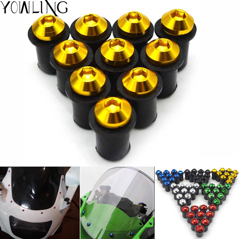 Motorcycle Windshield Windscreen Bolt Screw Nut Fastener kit for <font><b>YAMAHA</b></font> <font><b>XJR</b></font> FJR <font><b>1300</b></font> 1200 FZR 1000 TMAX 530 500 TMAX-530 TMAX500 image