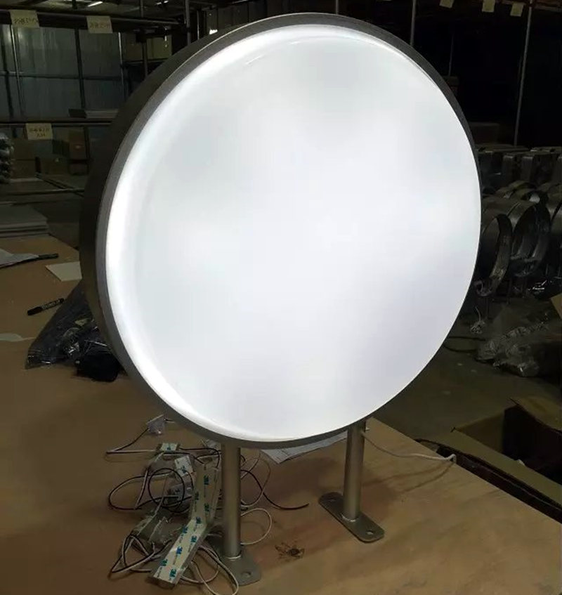 Exterior Led Light Box: LED 60CM Double Sided Outdoor Round Projecting Light Box