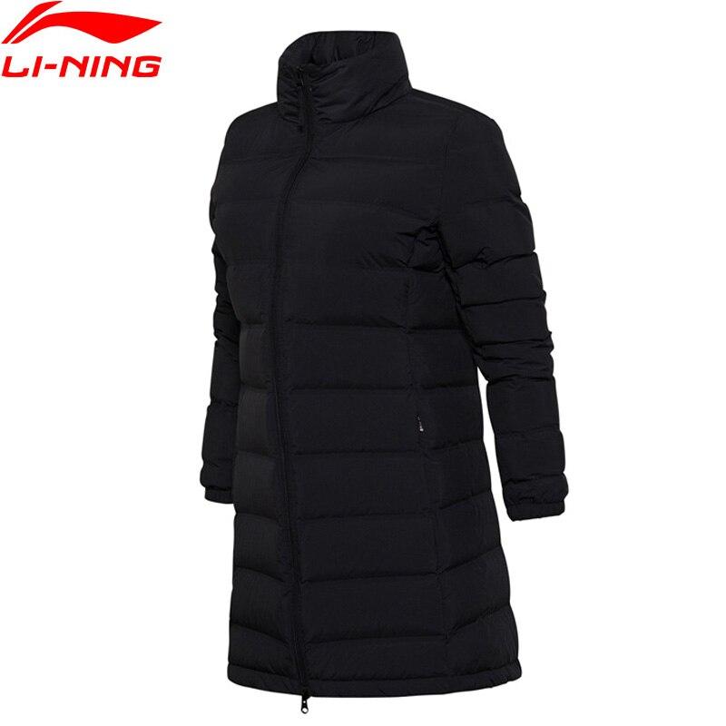Li-Ning Women Training Series Down Jacket AT PROOF WIND Regular Fit Winter Warm Coat LiNing Sports Jackets AYMM108 WWY395