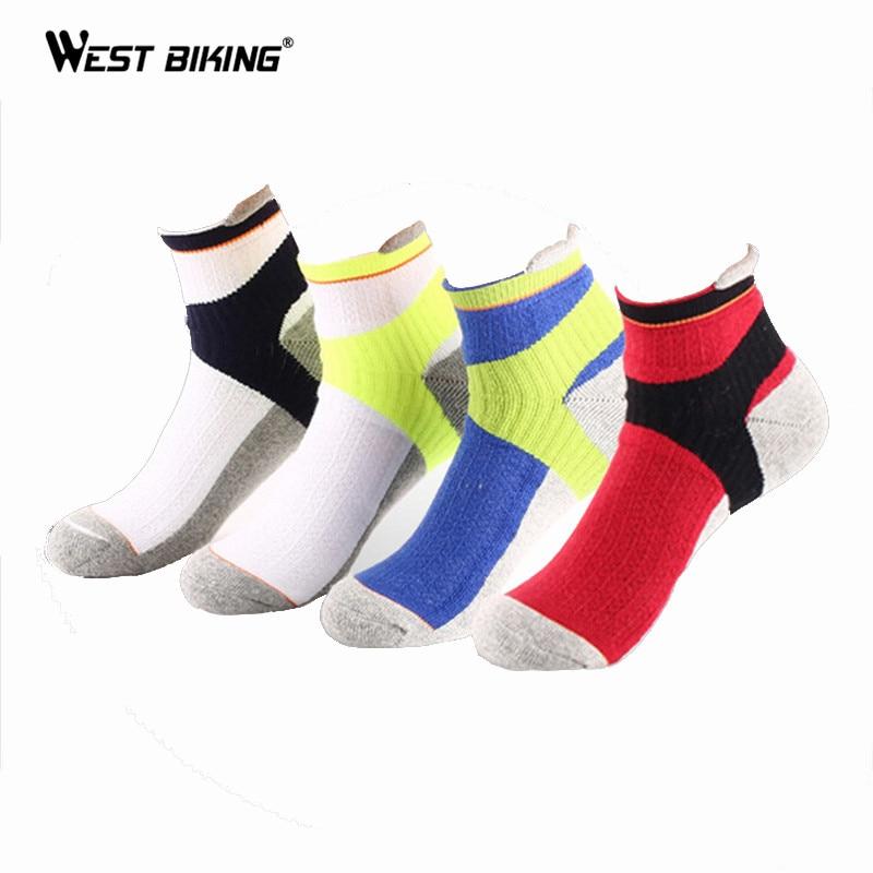 WEST BIKING Men Sport Socks Antibacterial Badminton Short Profession Sport Socks Basketball Running Hiking Riding Cycling Socks