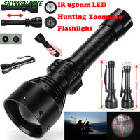 Long Range Infrared 10W IR 850nm T67 LED Hunting Light Night Vision Torch 18650 Free Shipping #NO19