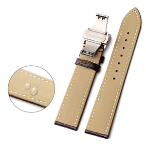 Image 5 - High end Crocodile Alligator Leather Watch Band Strap Replacement Deployment Double Push Buckle for Luxury Watches 20 22 24mm