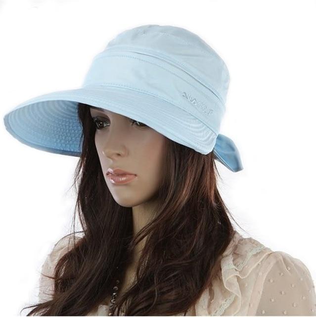 8d4290a00c988 Women 2in1 Combined Golf Cap Lady Wide Brim Tennis Visor Sun Hat-in ...