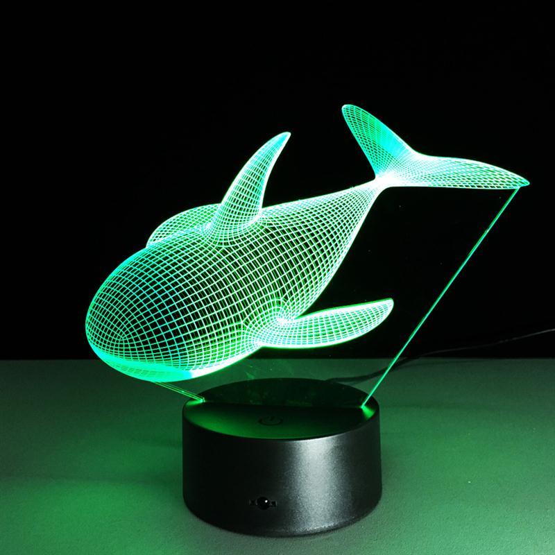 moderne animal whale nachtlampje baby 3d led verlichting