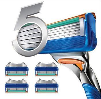 4Pcs/pack Men Razor Blades High Quality Shaving Cassettes Facial Care Men Shaving Blades Compatible Gillettee Fusione high quality 4pcs pack 100