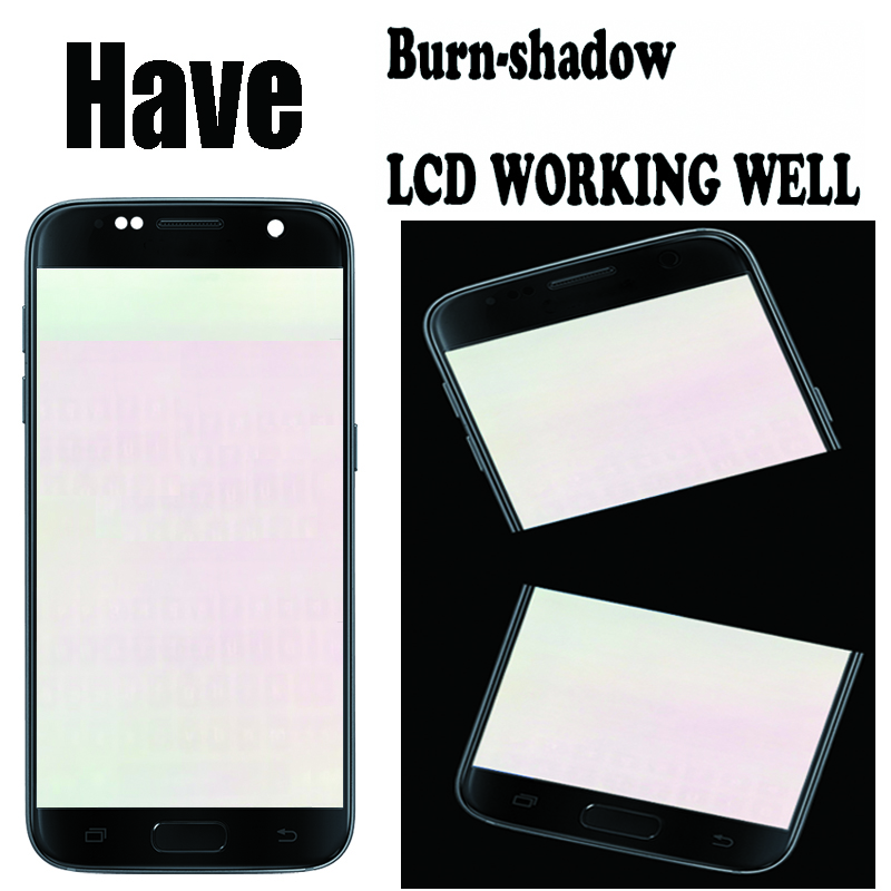HTB1klk8KSzqK1RjSZFHq6z3CpXae 5.1'' Burn-Shadow LCD With Frame For SAMSUNG Galaxy S7 Display G930 G930F Touch Screen Digitizer Replacement With Service Pack