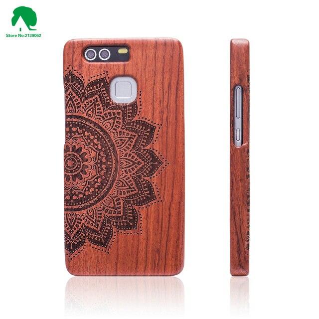 Huawei Ascend P9 Case Обложка Мода Резьба Узоры Деревянные Case Для Huawei Ascend P9 Wood Case Крышка С Бесплатный Подарок