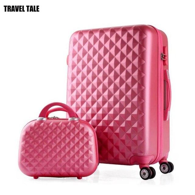 여행 이야기 소녀 귀여운 트롤리 수하물 세트 abs 하드 사이드 싼 여행 가방 가방에 바퀴