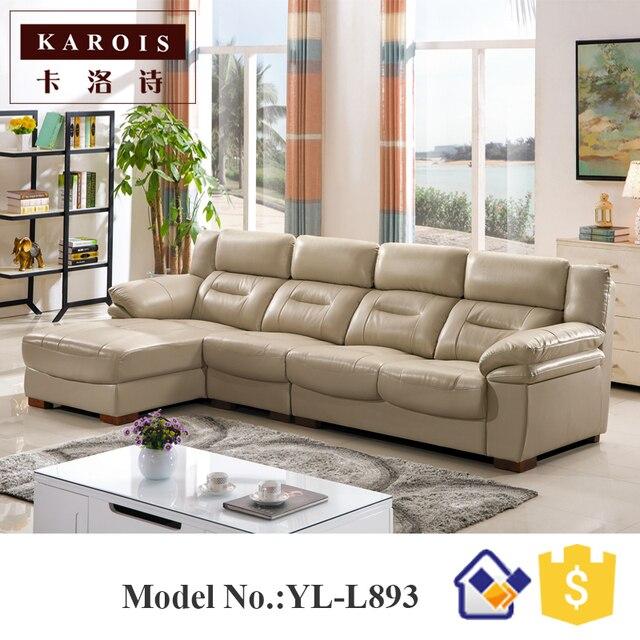 Milano design moderno guangdong mobili soggiorno angolo divano set ...