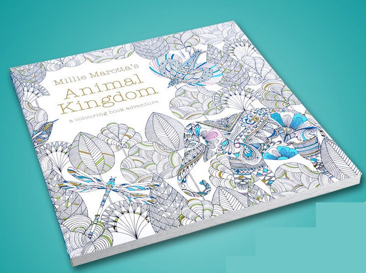English Edition Animal Kingdom Coloring Book For Children Adult Relieve Stress Kill Time Graffiti Painting Drawing Book 12 color pencils the colorful secret garden style coloring book for children adult relieve stress graffiti painting drawing book