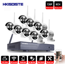 HKIXDISTE Plug&Play 8CH Wireless NVR Surveillance System NO HDD P2P 720P HD IR Outdoor CCTV WIFI IP Security Camera System