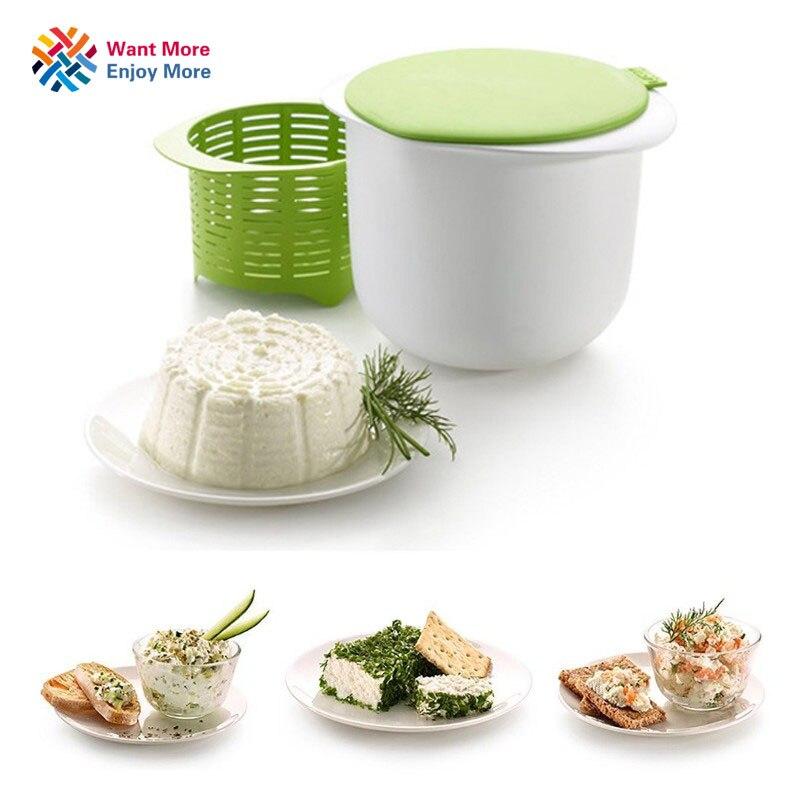 Käse Maker Mikrowelle Kunststoff Gesunde Für Die Herstellung Von Käse Enthält Rezepte Hausmannskost Küche Dessert Gebäck Pie Werkzeug BPA FREI