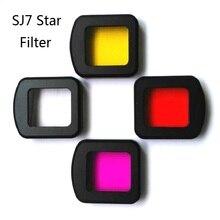 Novo sjcam sj7 uv cpl filtro à prova dwaterproof água caso/escudo lente tampa habitação/mergulho uv vermelho/capa para sj7 estrela ação acessórios da câmera