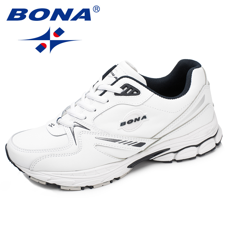 BONA New Arrival Classics Style Men Running Shoes Action Leather Sport Shoes Outdoor Jogging Sneakers Light