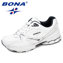BONA New Arrival Classics Style Men Running Shoes Action Leather Sport Shoes Outdoor Jogging Sneakers Light Fast Free Shipping цена