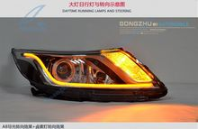 GZTOPHID car LED strip tear light daytime running lamp angel eye 85CM changeable color white+blue DRL turn light