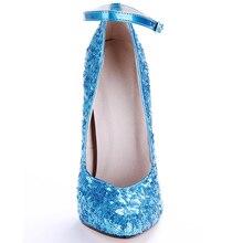 16cm Stiletto Glitter Sequins Shoes
