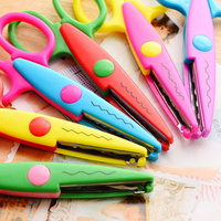 Cute Decorative Creative Craft Scissor Wave Lace Edge School Scissors DIY Scrapbooking Handmade Children Artwork Card