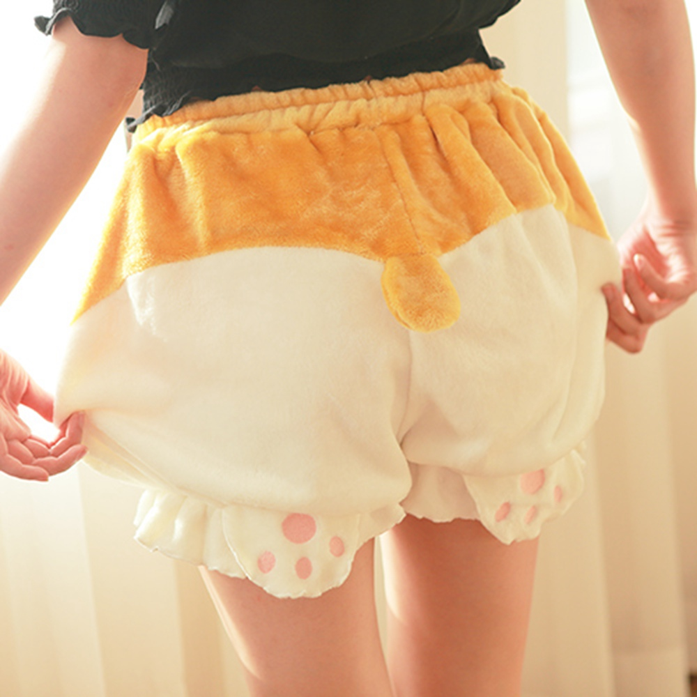 Cute Pumpkin   Shorts   Cartoon Girls Lolita Corgi Hips Shape Cute Bottom