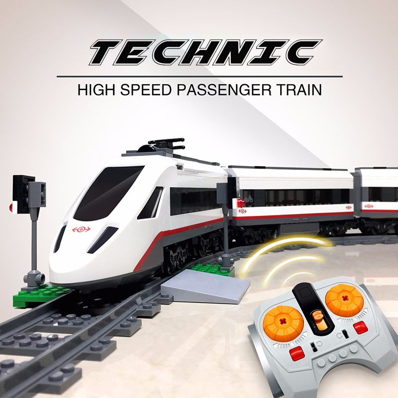 lepine Technic City the Remote control High speed Passenger Train Building Blocks Bricks Set Children Toy Gift Lepine 02010 10494 city supermarket building bricks blocks set girl toy compatible lepine friends 41118