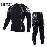 Aismz Men S Long John Thermal Underwear Male Apparel Sets Autumn Winter Warm Clothes Riding Suit