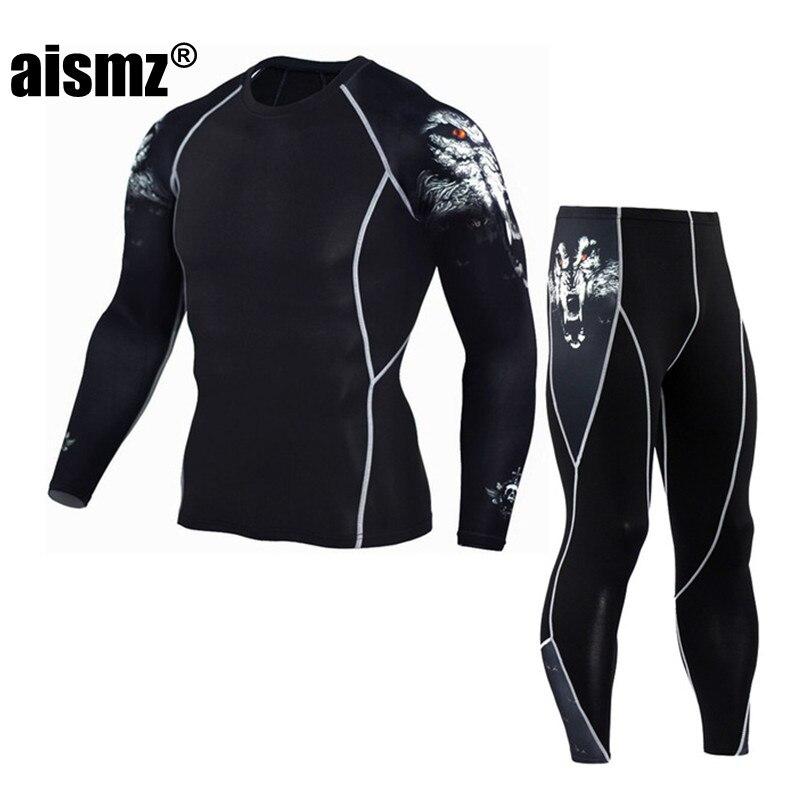 Aismz mens Long John thermal underwear male apparel sets autumn winter warm clothes riding suit