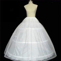 2017 Underskirt Hot Sale 3 Hoop Ball Gown Bone Full Crinoline Petticoats for Wedding Dress Skirt Accessories Slip In Stock