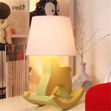 Creative Girl Bedroom Deco Pink Trojan Horse Led Table Lamp for Kids Room Children Holiday Gift Study Table Light Baby Desk Lamp(China)