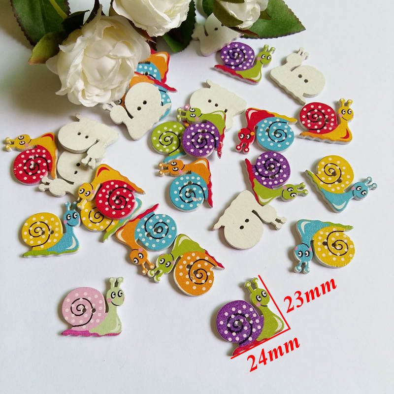 CRAFT ETC., SCRAPBOOKING 30 x TIGER 2 HOLE WOODEN 18mm SEWING BUTTONS