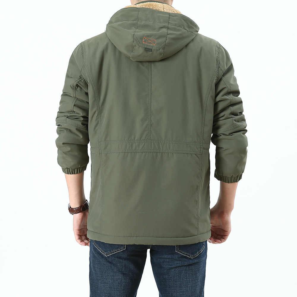 Зимняя куртка мужская Толстая теплая флисовая куртка пальто мужские военные куртки Водонепроницаемая ветровка с капюшоном мужская верхняя одежда с несколькими карманами