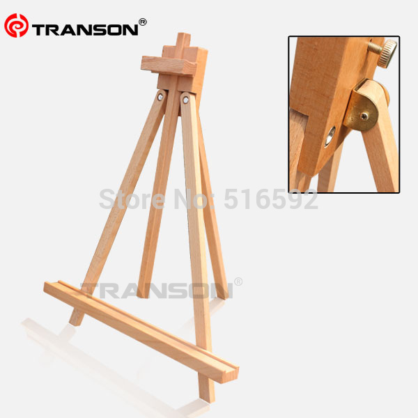 Fine Beech Wooden Tabletop Easel For Oil Painting Foldable Mini Wood Tripod
