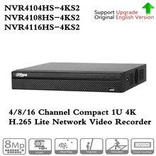 원래 Dahua 영어 4k NVR NVR4104HS 4KS2 4CH & NVR4108HS 4KS2 POE 네트워크 비디오 레코더없이 8CH & NVR4116HS 4KS2 16ch