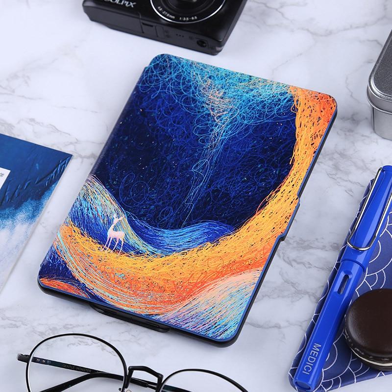 Case for Amazon Kindle paperwhite,Kindle voyage,Basic Kindle 2016,Unique art design slim cover,blue,red,pink deer