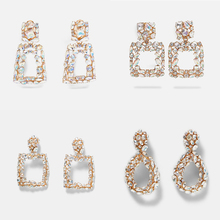 Ztech ZA Fashion Rainbow Crystal Sequins Drop Earrings Women Stone Long Fringed Pearl Statement Jewelry Gift Wholesale