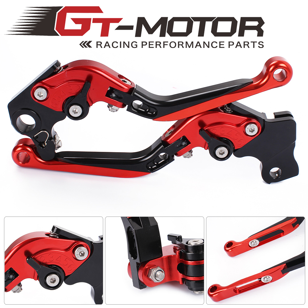 GT Motor - DB-12/D-82 Adjustable CNC 3D Extendable Folding Brake Clutch Levers For DUCATI 821  MONSTER/Dark/Stripe2014-2017 adjustable billet extendable folding brake clutch levers for bimota db 5 s r 1100 2006 11 07 09 10 db 7 08 11 db 8 1200 08 11