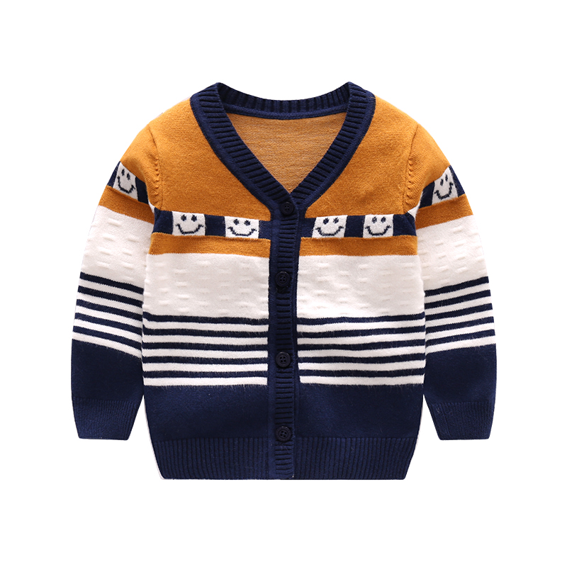 Casual-Baby-Sweater-For-Boys-Girls-V-Neck-Long-Sleeve-Infant-Sweater-Striped-Cotton-Knit-Cardigan-Spring-Autumn-Oudoor-Cardigan-3