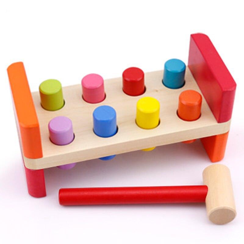 Bebé de madera del ruido Knock Ball Mano de los niños Hammering - Juguetes clásicos - foto 4