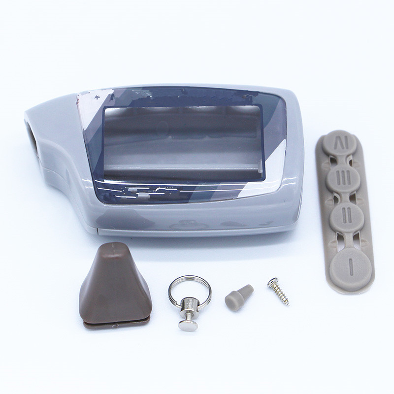 Keychain Case Car Alarm Khan Remote-Control/scher Magicar-5 2-Way M5 for Russian LCD title=