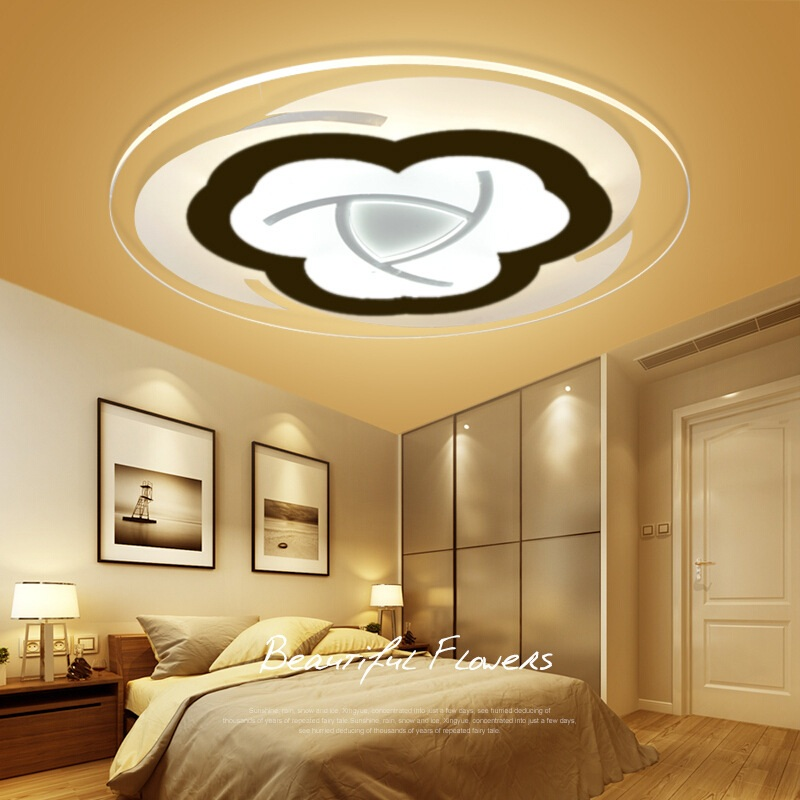 Slim Acrylic Flower Led Ceiling Light Living Room Bedroom Study Room Lamp Office & Commercial Lighting Ceiling Lights Ac110-240v Lovely Luster Ceiling Lights